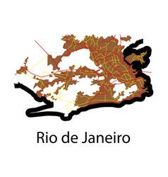 Modern map - rio de janeiro flat vector