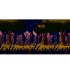 Mystery Dark Forest Background vector image