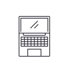 netbook line icon concept netbook linear vector image