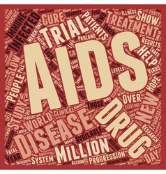 New Treatments Available For Those With Aids text vector