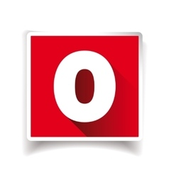 Number zero label or number icon vector