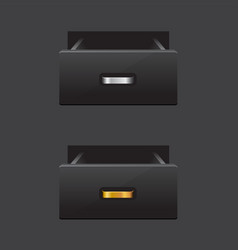 open empty drawer vector image