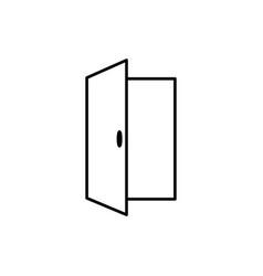 Opened door icon vector