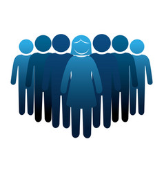 person group think people vector image