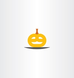 Pumpkin head halloween logo icon vector