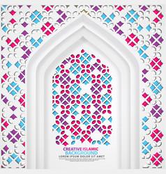 Realistic door mosque texture with ornamental vector