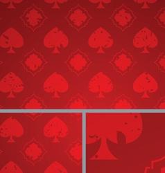 Red Vintage Poker Spade Distressed Background vector image