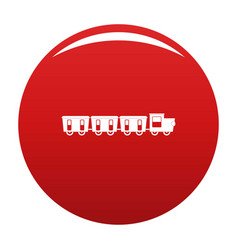 Reserved carriages icon red vector