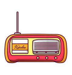 retro radio icon cartoon style vector image