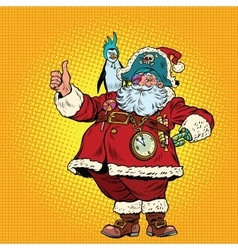Santa Claus pirate thumb up vector image