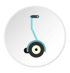Segway icon circle vector