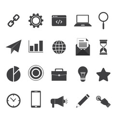 Set 20 business icon for your project vector