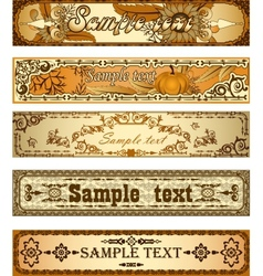 Set of country style banners vector image