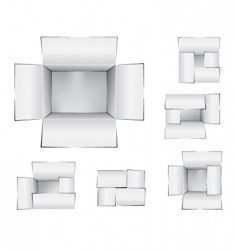 shipping cartons vector image