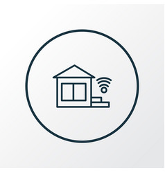 smart home icon line symbol premium quality vector image