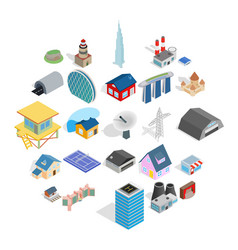 Stock icons set isometric style vector