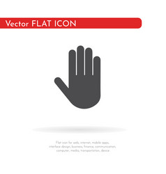 stop hand icon for web business finance and vector image