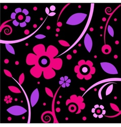 Stylish black and pink pattern vector