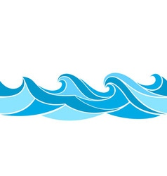 stylized waves vector image