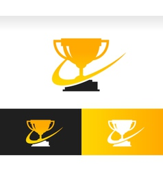 Swoosh Trophy Logo Icon vector