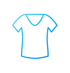 T-shirt for women blue icon or symbol vector