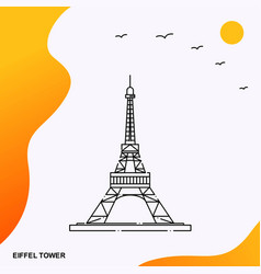 travel eiffel tower poster template vector image