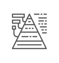triangular diagram with explanations line icon vector image