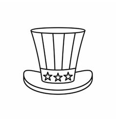 Uncle Sam Hat icon outline style vector