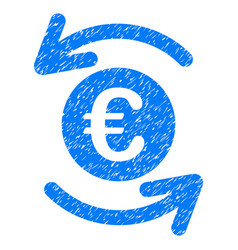 Update euro balance grunge icon vector