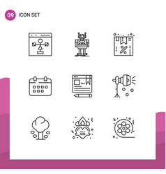 User interface pack 9 basic outlines vector