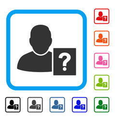 User status question framed icon vector