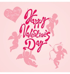 valentine day calligr 4 380 vector image