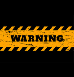warning background in yellow and black colors vector image