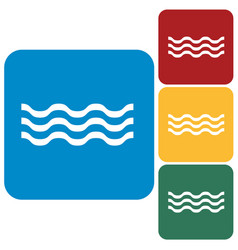 water waves icon vector image