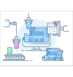 Website building design vector image
