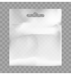 White Blank Plastic Bag With Hang Slot vector