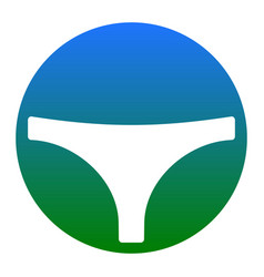 Womens panties sign white icon in bluish vector