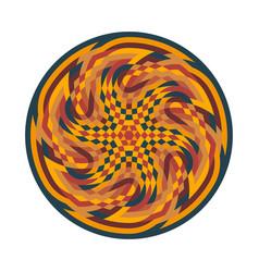 Abstract multicolor symbol geometric circular vector