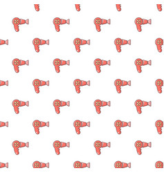 hairdryer pattern seamless vector image vector image