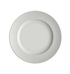 image porcelain plates vector image vector image