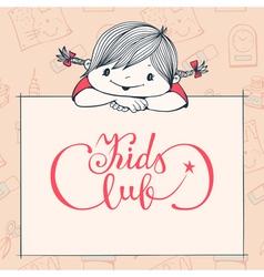 Kids club vector image vector image