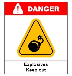 label bomb vector image