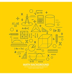 math icon background vector image vector image