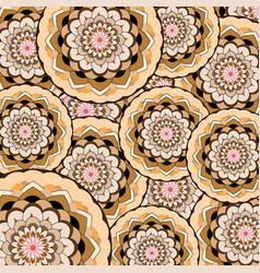 circular lace pattern vector image vector image