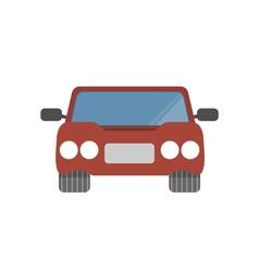 Flat design simple car vector image