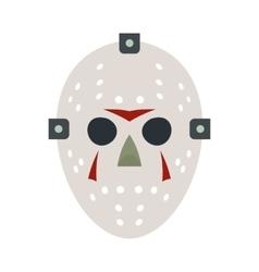 Halloween hockey mask flat icon vector