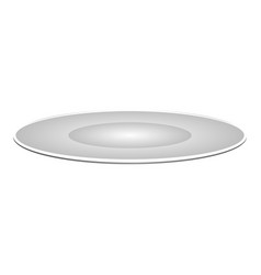 isolated plate icon vector image