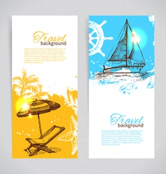Banners of travel colorful tropical design vector image vector image