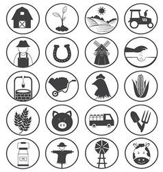 Farming Icons Collection vector image