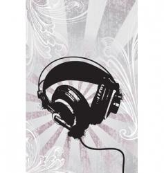 funky headphones vector image